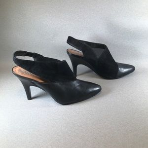 Vince Camuto Traceys Suede & Leather Heel Pump